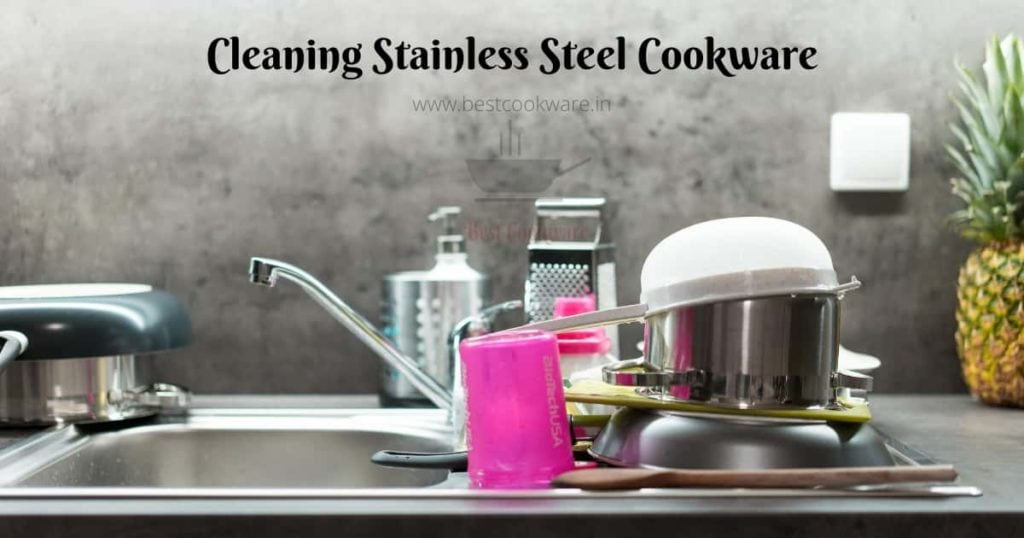 stainless steel cookware cleaning